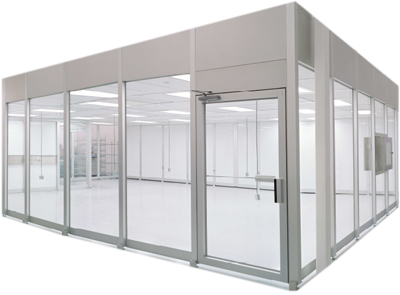 A hardwall modular cleanroom.