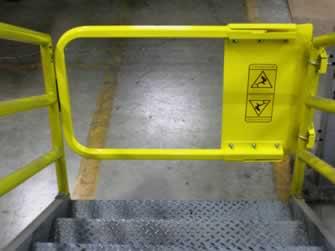 A typical self-closing gate. Photo courtesy of Dakota Safety.