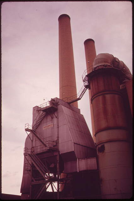 The first ESP installed in the U.S., Gravesend Bay Municipal Incineration Plant, Brooklyn, NY (May 1973)